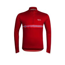 Rapha Long Sleeved Cycling Jersey Red Norway Size Medium BNWT  Country