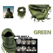 Stock Green MFR Arab Shemagh Kaffiyeh Turban Palestine Wrap Scarf Shawl Military