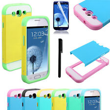 2 in 1 Hybrid Impact Dual Layer Hard Case Cover For Samsung Galaxy S3 III i9300