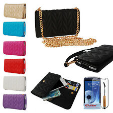 PU Wallet Flip Case Cover For Samsung Galaxy S3 S4 i9300 i9500 Amazon Fire Phone