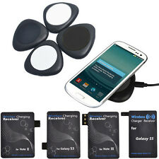 Mini Wireless Charger Charging Pad For Samsung S5 S4 S3 Note2 Note3 + Receiver