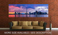 Wall Art Canvas Print Picture Toronto Skyline Panoramic View-Unframed