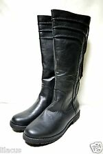 Yoki Graham Women's Lace-Back Riding Boots In Multiple Color & Sizes - new