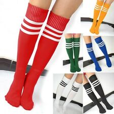 Knee High TRENDY Tube Football Socks Sport Soccer Running Cheerleaders Sock  JA