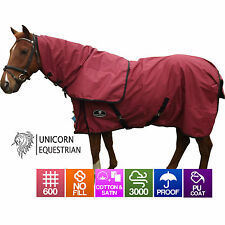 Paddock Horse Rug Waterproof Cotton Lined Rainsheet 600D No Fill Size 4'6 to 6'9