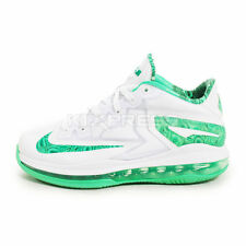 Nike Max Lebron XI Low GS [644534-100] Basketball White/Lite lced Green
