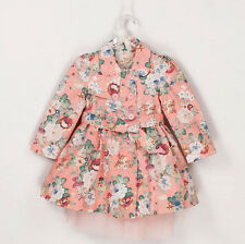 Kids Toddlers Clothing Girls Doll Collar Flower Style Coat Outerwear Size 2-7Y