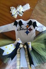 Pittsburgh Steelers tutu outfit, NFL, football, sizes nb-6