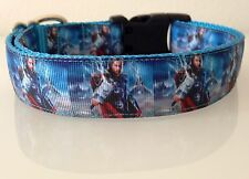 """AVENGERS Super Heroes THOR Dog Collar or Leash All Sizes in 1"""" MARVEL JLA"""