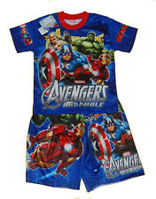 AVENGERS ASSEMBLE T-Shirt & Shorts Set Outfit Boys/Girls Kids Top Uniform D 20