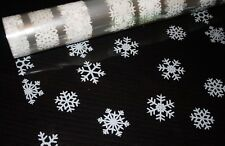 large WHITE snowflake CHRISTMAS CELLOPHANE   hampers gift wrapping etc (247)