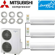 18.5 SEER: ENERGY STAR Tri Zone Ductless Mini Split Air Conditioner - Heat Pump