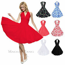 Maggie Tang 50s 60s Vintage Dancing Swing Rockabilly Dress Skirt Ball Gown 504