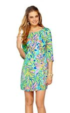 2014 $198 Lilly Pulitzer Carol Shift Dress Multi Hot Spot  vibrant foliage motif