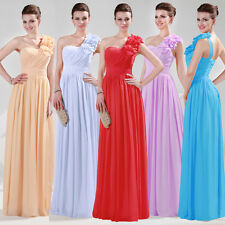 Clearance sale~One Shoulder Long Evening Bridesmaid Formal Dress Party Prom Gown
