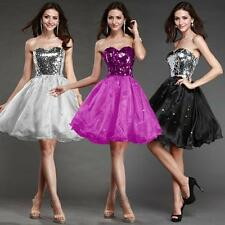 Mini Formal Gown Cocktail Party Sequins Dresses Wedding Bridesmaid Prom Dress