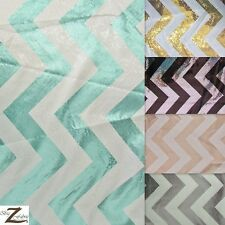 "CHEVRON ZIG ZAG SEQUIN TAFFETA FABRIC - 5 Colors - 53"" WIDTH SOLD BY THE YARD"