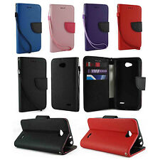 For LG OPTIMUS L90 D415 D410 Leather Wallet Flip Case Cover w Card Holder &Strap