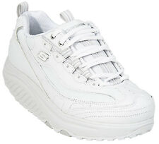 WOMEN'S SKECHERS SHAPE-UPS METABOLIZE TRAINER WITH WHITE LEATHER UPPER  11800