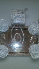 Flower Girl Wedding Kid Or Adult 3pc Gift Box Bridal Pearl Necklace Set 4 Colors