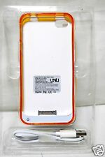 Unu Dx-Lite Protective Battery Case for iPhone 4/4s White Orange Used