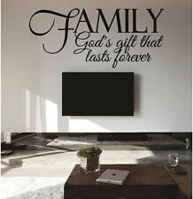 FAMILY - God's Gift - Vinyl Wall Decals Quotes Lettering Stickers