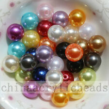 Assorted ABS Plastic Pearl Spacer Beads Charm Loose GumBall Acrylic Beads 4-16mm