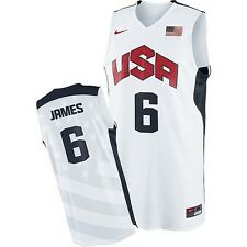 Lebron James #6 USA Dream Team White Swingman Home London Olympic 2012 Jersey