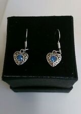 Tibetan silver blue heart : choice of necklace,earrings or gift set - brldesmaid