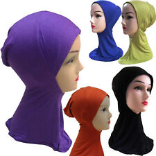 Hot Muslim Hijab Under Scarf Hat Bone Bonnet Islamic Head Band Neck Chest Cover