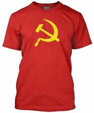 NEW Hammer and Sickle CCCP Russian Soviet Russia Army Mens Red T-Shirt Top