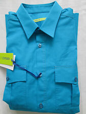 VERSACE JEANS Mens Navy Casual Cotton Shirt Size MEDIUM 48
