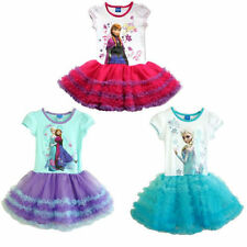 Kids Cute Toddler Girls Disney Frozen Elsa Anna Princess Dress Tutu Skirt 2-8Y
