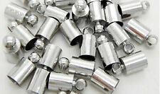Wholesale Silver Plated Brass Barrel Cord End Caps 3mm/6mm Rope Connector K