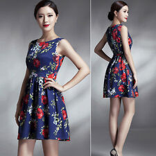 NEW Women's Floral Slim Evening Prom Cocktail Party Shopping Short Dress Skater