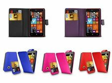 Leather Flip Wallet Case Cover Pouch For Nokia Lumia 530 + Free Screen Protector