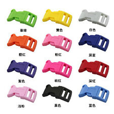 HOT 1/2 Colored Contoured Curved Side Release Buckles Webbing StrapsFor Paracord