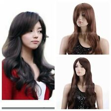 """25"""" Sexy Ladies Women Wavy Curly Costumes Anime Wig Long Black/Brown Wig Cosplay"""