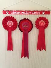 PERSONALISED Rosette Wall Hanger/Display/Holder horse/pony/dog show FREE POST