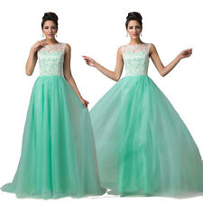 Discount Long Evening Party Ball Gown Bridesmaid Summer Homecoming Lace Dresses