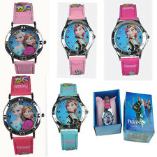 Wholesale Frozen Elsa Anna Watches Children Cartoon watch Crown Party Xmas Gift