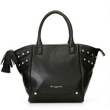 """*NEW* Jack French London Pebbled Leather Studded  East-West  """"Shoreditch"""" Tote"""