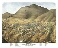 Old Map of Virginia City Nevada 1875 Storey County