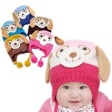 New Baby Hat Animal Dog Hats Crochet Winter Warm Caps For Infant Boy Girl Hats