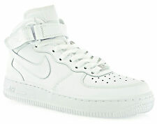 NIKE AIR FORCE 1 MID GS scarpe donna bambino sneakers alte sportive bianche