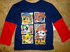 NWT Nick Paw Patrol Toddler T-Shirt Marshall Rocky Chase Rubble Zuma 2T 3T 4T 5T