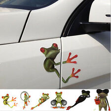3D Cute Frog Funny Car Stickers Truck Window Vinyl Decal Graphics 9 Style Hot