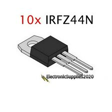 10 x IRFZ44N IRFZ44 MOSFET N-Channel 49A 55V 55 Volts- USA Fast Shipping