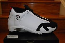 "NIKE AIR JORDAN RETRO 14 XIV ""BLACK TOE"" White Red 487471-102 GS & MEN SZ:4y-14"