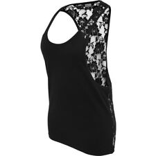 Urban Classics Ladies - FLOWER LOOSE Tank Top schwarz